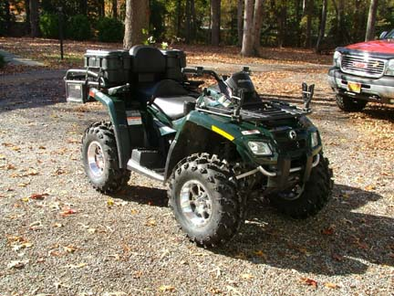 Small vs same size tires in front | Can-Am ATV Forum
