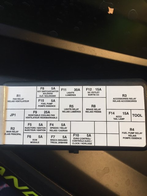Help Fuse Box Picture 2014 Xmr 1000