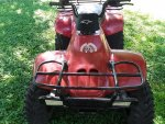 2005 Polaris Trail Boss 330 new red color, brown seat, more