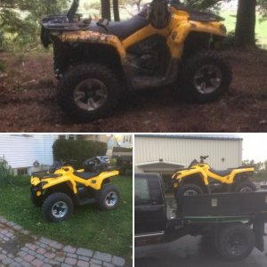 The new Can Am Outlander 570 DPS